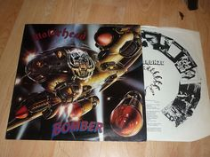 MOTORHEAD - Bomber - UK VINYL LP - SIGNED BY BAND - LEMMY FAST EDDIE PHILTHY Eddie Clarke, Band, Signs, Lp, Google Search, Sash, Shop Signs, Bands