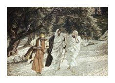 The Disciples on the Road to Emmaus James Tissot French) Jewish Museum New York Canvas Art - James Tissot x Bible Pictures, Jesus Pictures, Jesus Pics, Road To Emmaus, New York Canvas, Life Of Jesus Christ, Jewish Museum, Biblical Art, Spiritus