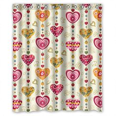Monadicase Polyester Love Bathroom Curtains Width X Height / 72 X 72 Inches / W H 180 By 180 Cm Best Choice For Bf,couples,birthday,kids,boys. Home Fashion - Fabric * Check out the image by visiting the link.