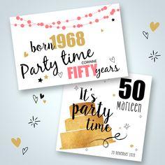 Uitnodigingen 50 jaar verjaardag!