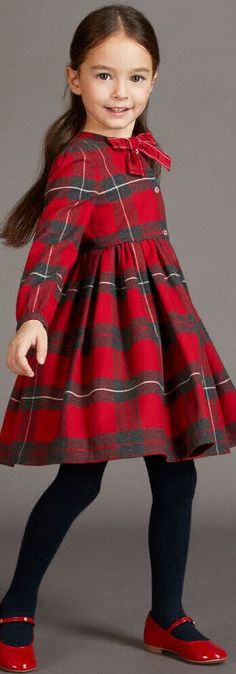 ON SALE !!! Love this DOLCE & GABBANA Girls Red Tartan Holiday Dress.  Designed to keep fashion-forward girls comfy & stylish. Perfect Classic Christmas Dress.  #kidsfashion #christmas #dress #holiday #cute #doclegabbana #sale