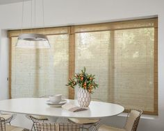 Roller blinds sunscreen and rollers on pinterest for Smith and noble bamboo shades