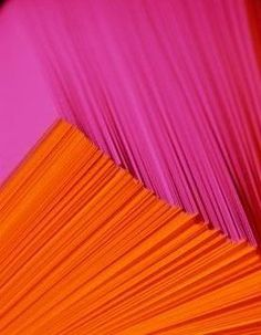 fuchsia and orange pleats