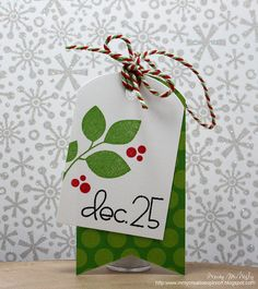 In My Creative Opinion: 25 Days of Christmas Tags - Day 22 25 Days Of Christmas, Christmas Paper, Handmade Christmas, Christmas Crafts, Christmas Wrapping, Holiday Gift Tags, Holiday Cards, Handmade Gift Tags, Paper Tags