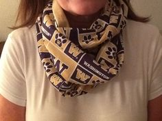 University of Washington huskies infinity scarf on Etsy, $15.00