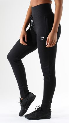 Get luxurious comfort from the High Waisted Joggers in black. Tailored for a high waisted and figure hugging fit.