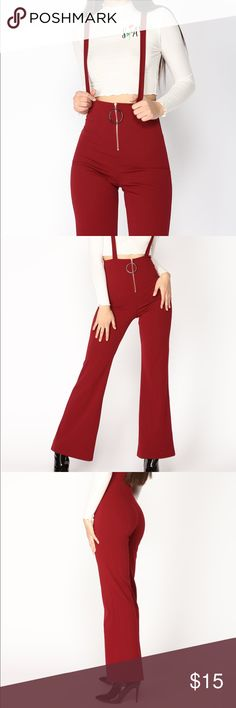 4f5a86d85de Burgundy Jumpsuit Overalls Jump in the Ring - Burgundy (Fashion Nova) This  jumpsuit is
