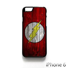 Flash logo on the wood wall AR for iPhone 4/4S/5/5C/5S/6/6 plus phonecase