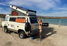 Volkswagen, Vw Bus, Happy Bus, Vw T3 Syncro, Bus Girl, Van Camping, Amazing Cars, Campervan, Van Life