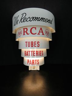 Vintage 1950s RCA Victor Radio Tube Lightup Antique Advertising Art Deco Sign   eBay