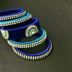 Check out these silk thread bangles design like multicolored bangles, handmade bangles, kundan bangles, etc and find the most stylish silk thread bangles for bride. Silk Thread Bangles Design, Silk Thread Necklace, Silk Bangles, Bridal Bangles, Thread Jewellery, Beaded Jewelry, Bridal Jewellery, Fine Jewelry, Bangles Making