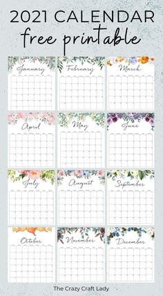 Free Printable Calender, Monthly Planner Printable, Free Calendar, Kids Calendar, Calendar Pages, 2021 Calendar, Free Printables, Calendar Templates, Blank Calendar