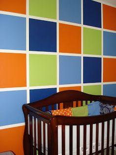boy's nursery - bright colors