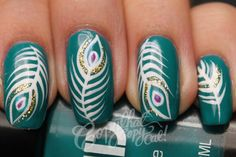 Copy That, Copy Cat: Peacock Feathers Nail Art