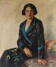 MAX PISTORIUS (AUSTRIAN 1894-1960)Portrait of a Seated Woman in a Kimono, 1932oil on canvas90 x 75 cm (35 1/2 x 29 1/2 in.)signed