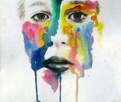 Self Portrait Mixed Media Ideas images