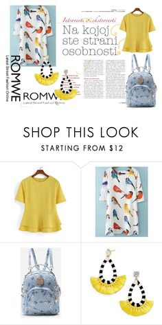 """""""romwe 1/V"""" by obsessedwithnicestuff ❤ liked on Polyvore featuring BaubleBar"""