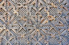 Wooden fretwork with islamic pattern_Fez Morocco