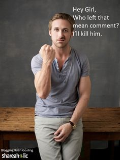 funny ryan gosling images | ... Day treat from the sweetest blogger we know: Blogging Ryan Gosling