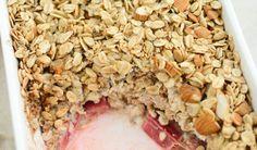 baked rhubarb oats_