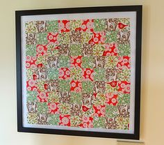 Seasonal paper quilt.. use old quilting patterns