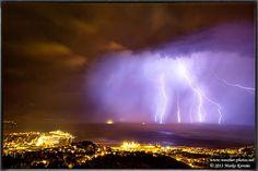 Trieste city lightning by Marko Korošec on 500px
