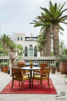 Terracce of the Four Seasons #Marrakesh. Explore more hotel recommendations in #sisterMAG8. Photo: Alvaro Leiva