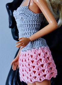 Vestido De Croche Para Barbie Passo A Passo Pap Roupas De Croche