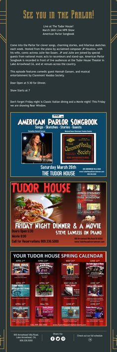 This weekend at the Tudor House