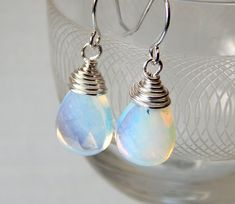 Opaitel Dangle Earrings Silver Earrings Drop by deezignstudio
