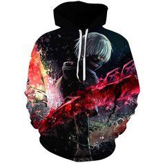 Coolred-Men Drawstring Long-Sleeve Print Leisure Hooded Baggy Sweatshirts Top
