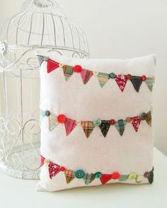 Christmas Bunting Cushion