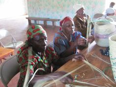 The widows at theWidow Care Center in Kenya - basket weaving