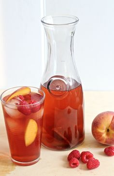 Raspberry Peach Iced Tea Cocktail