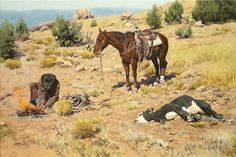 ❦ Cowboy Artists of America - Bill Owen kK Pretty Pictures, Art Pictures, Western Horseman, Bill Owen, Chris Owen, Real Cowboys, West Art, Le Far West, Old West