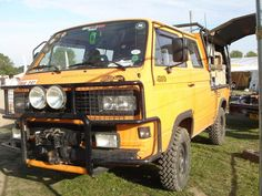 Amazing looking T3 Syncro Doka (Double cab) truck.