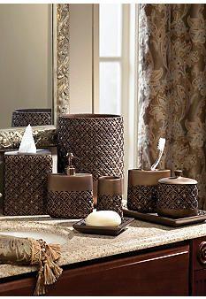 Croscill antique ribbed bath accessories dillards living in style pinterest bath for Dillards bathroom accessories sets