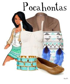"""""""Disney High Pocahontas"""" by murphylovesturtles ❤ liked on Polyvore featuring s.Oliver, AFTERSHOCK, Denim & Supply by Ralph Lauren and Ciner"""