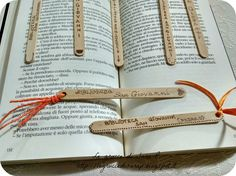 Segnalibri con i legnetti del gelato per la Biblioteca San Giovanni