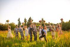 edmonton bohemian/country backyard wedding. sunset bridal portraits