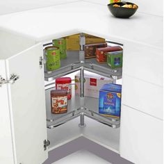 Tansel Corner Cabinet Solutions Will Transform Your Space Into Accessible  Storage. #lazysusan #kitchencabinet
