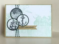World Traveller embossing folder from SU with stamps from The Open Sea - created by Julia Jordan