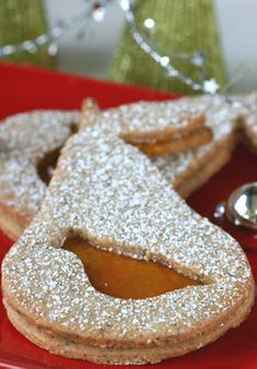 Partridge in a Pear Tree cookies.  with pear jelly inbetween.   Christmas cookie of the year.