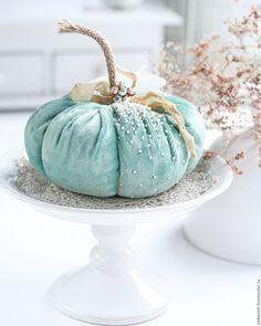 Купить Blue sky - бирюзовый, тыква, игольница, декор для интерьера, декор дома, Декор, pumpkin