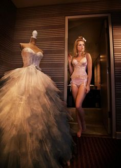 Galleria della Sposa gown featured at a photoshoot for the Bridal Boudoir Affair.