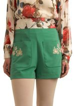 Modcloth Let's Make a Dill Shorts