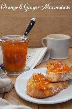 Orange and ginger marmalade made with Seville Oranges