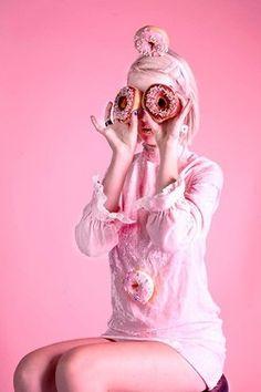 Pink donut queen.
