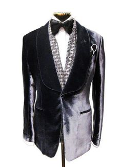 """To quote Bergdorf Goodman: """"Some days just call for a velvet smoking jacket.  Tom Ford seems appropriate…oh yes."""" - A beautifully cut silver grey smoking  ..."""