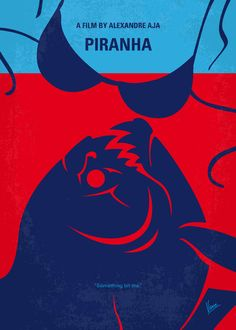 Piranha 3D (2010) ~ Minimal Movie Poster by Chungkong #amusementphile